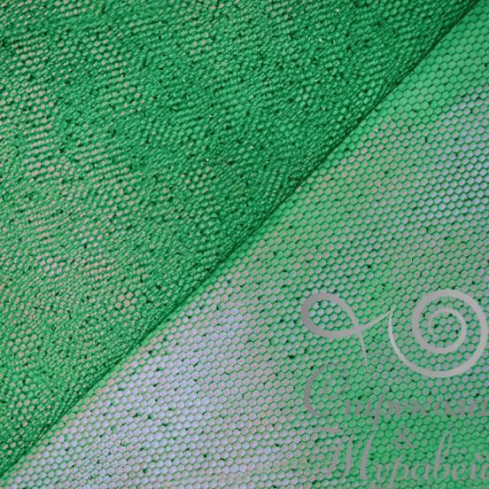 Фатин металлик 150 см 100% п/э, Китай, 33г/м пог. (243 зеленый).Арт.26056